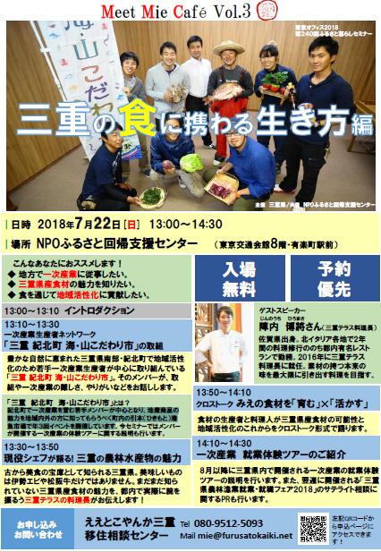 【7月22日〔日〕/東京】Meet Mie Cafe Vol.3 「三重の『食』に携わる生き方」編_写真1