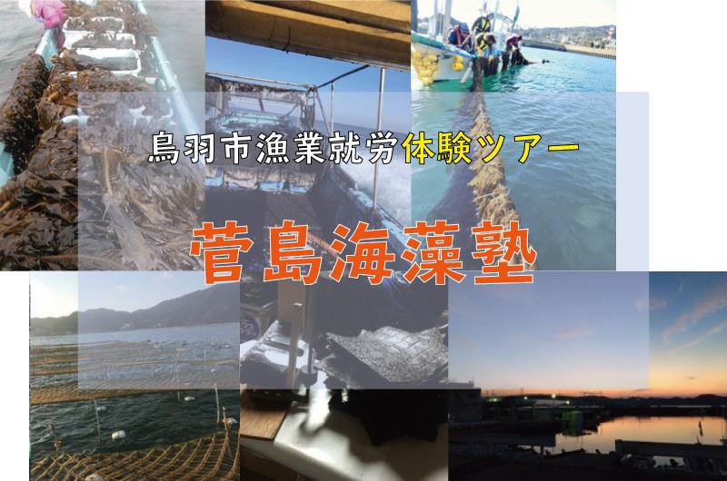 【鳥羽市】漁業就労体験ツアー 菅島海藻塾 参加者募集中!_写真1